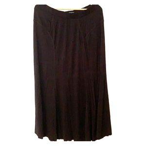 Flowy black maxi skirt